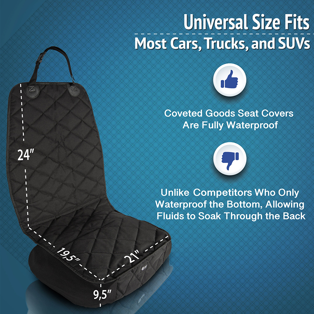 pet front seat cover size graphic